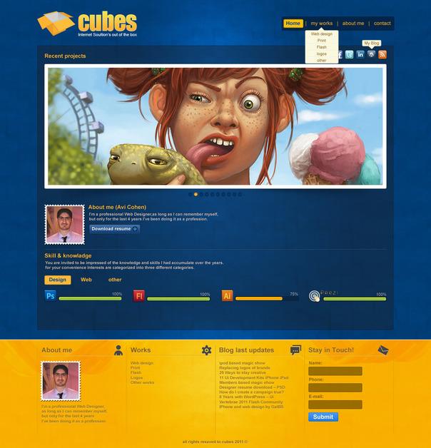 A great web design by Avi Cohen - אבי כהן, Tel Aviv, Israel: