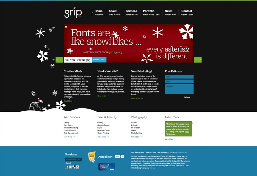 A great web design by Grip Agency, St Louis, MO: