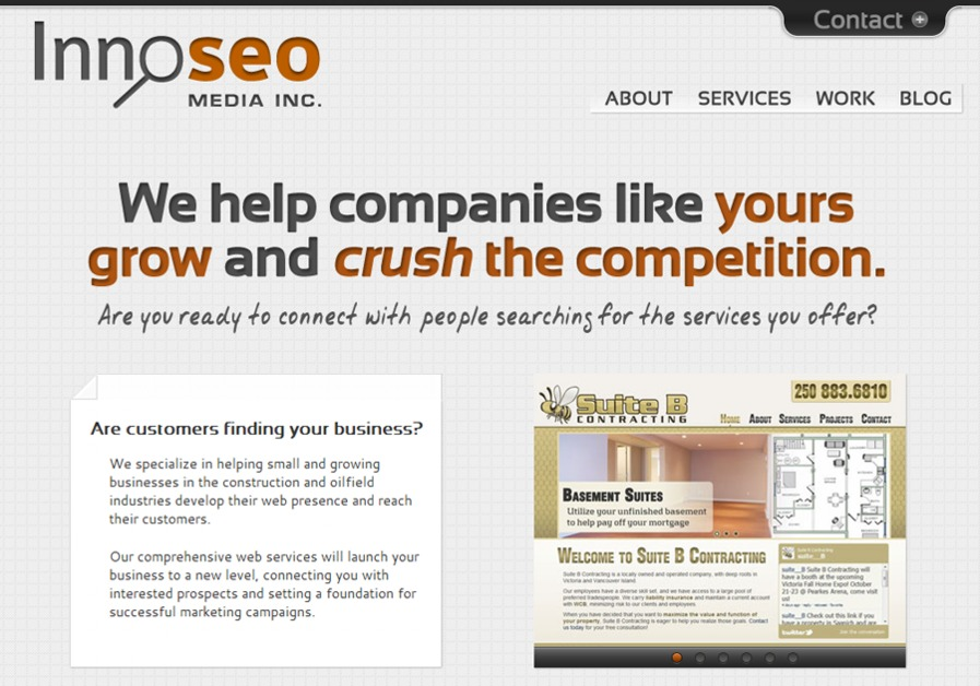 A great web design by Innose Media Inc, Toronto, Canada: