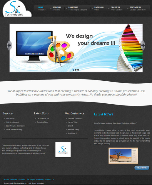A great web design by Super Intellisense Technologies, Chandigarh, India: