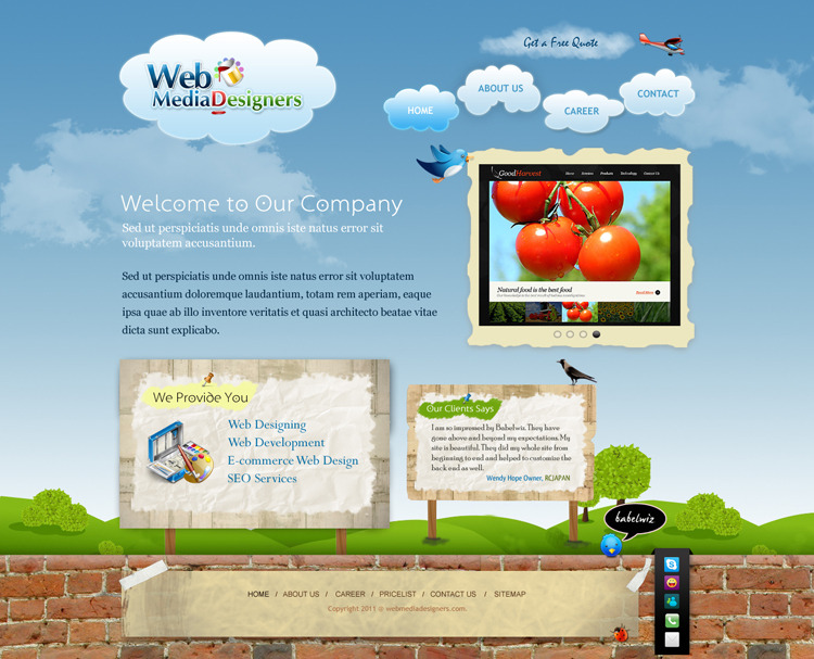 A great web design by Babelwiz Technology Solution, Kolkata, India: