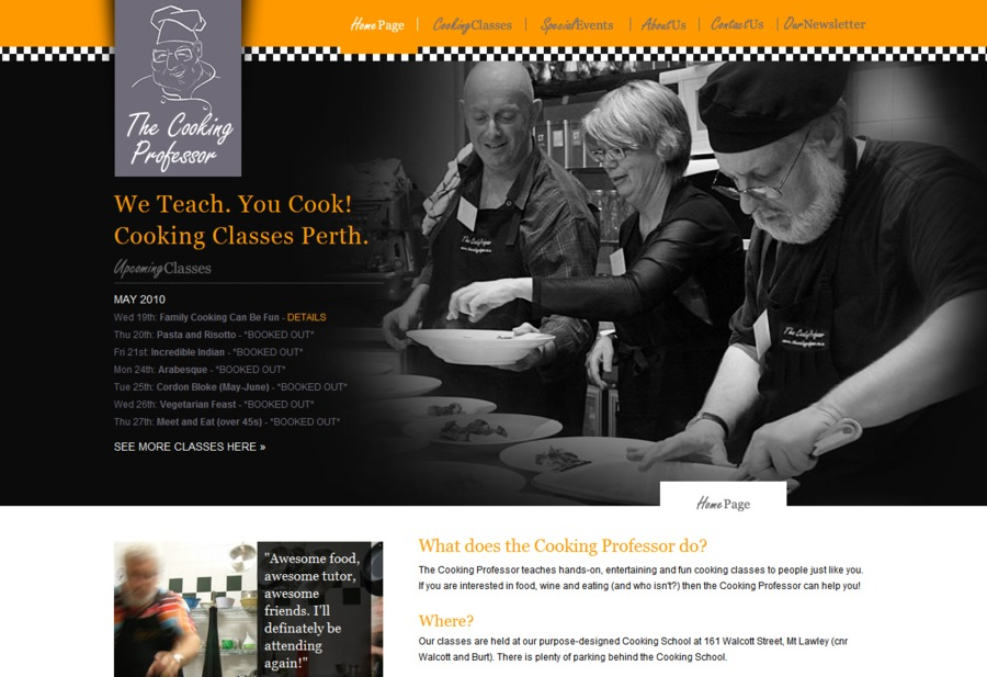 A great web design by CVW Creative, Perth, Australia: