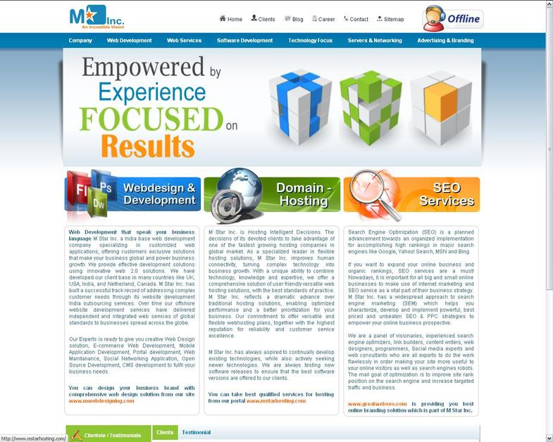 A great web design by M Star Inc, Ahmedabad, India: