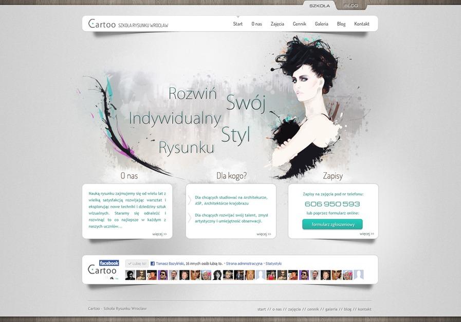 A great web design by Tomasz Bazyliński, Wroclaw, Poland: