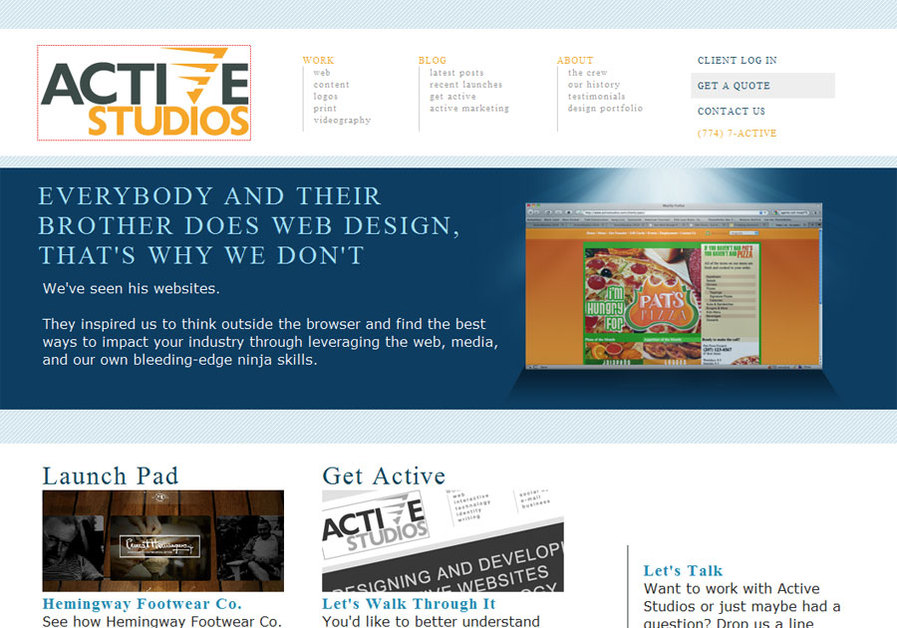 A great web design by ActiveStudios, Seattle, WA: