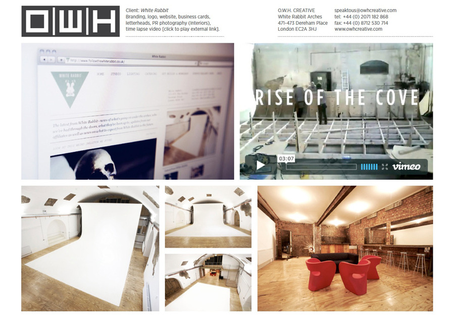 A great web design by O.W.H. Creative, London, United Kingdom: