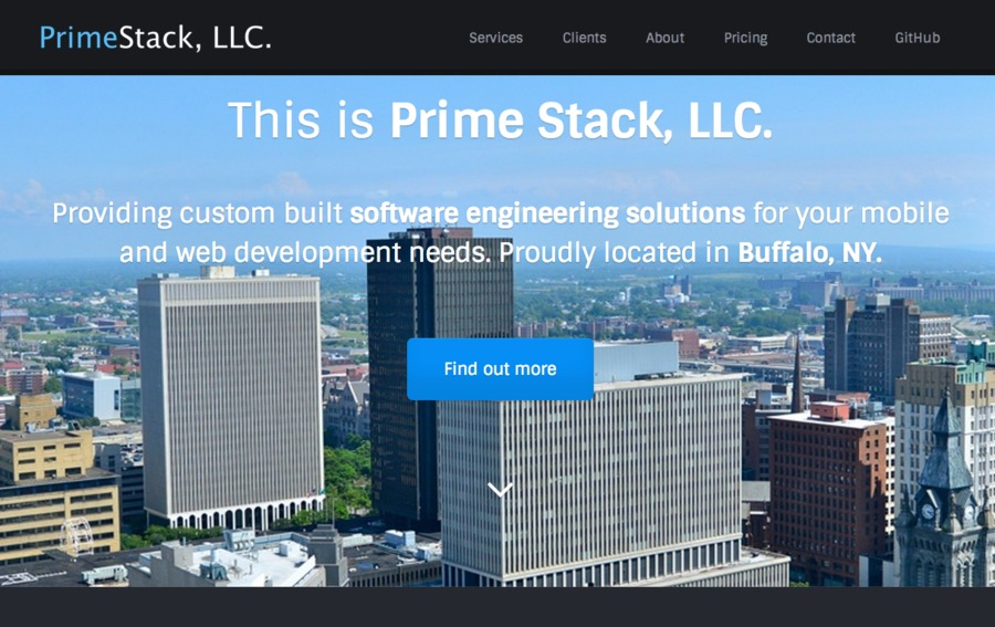 A great web design by Prime Stack, LLC., Buffalo, NY: