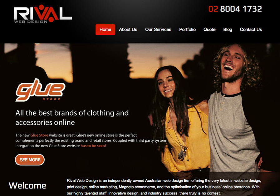 A great web design by Rival Web Design, Sydney, Australia: