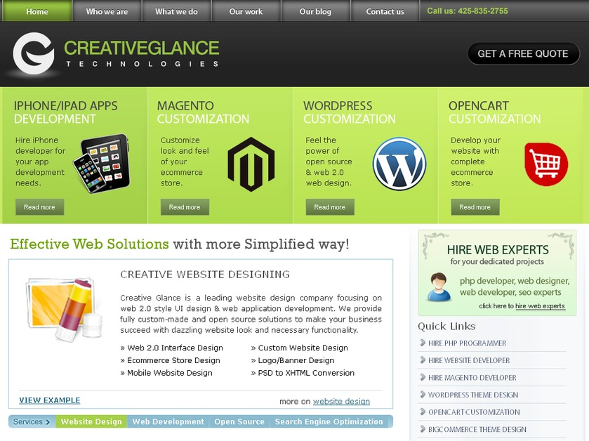 A great web design by Creative Glance, New York, NY: