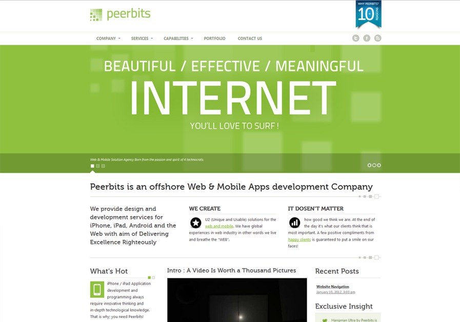 A great web design by Peerbits, Ahmedabad, India:
