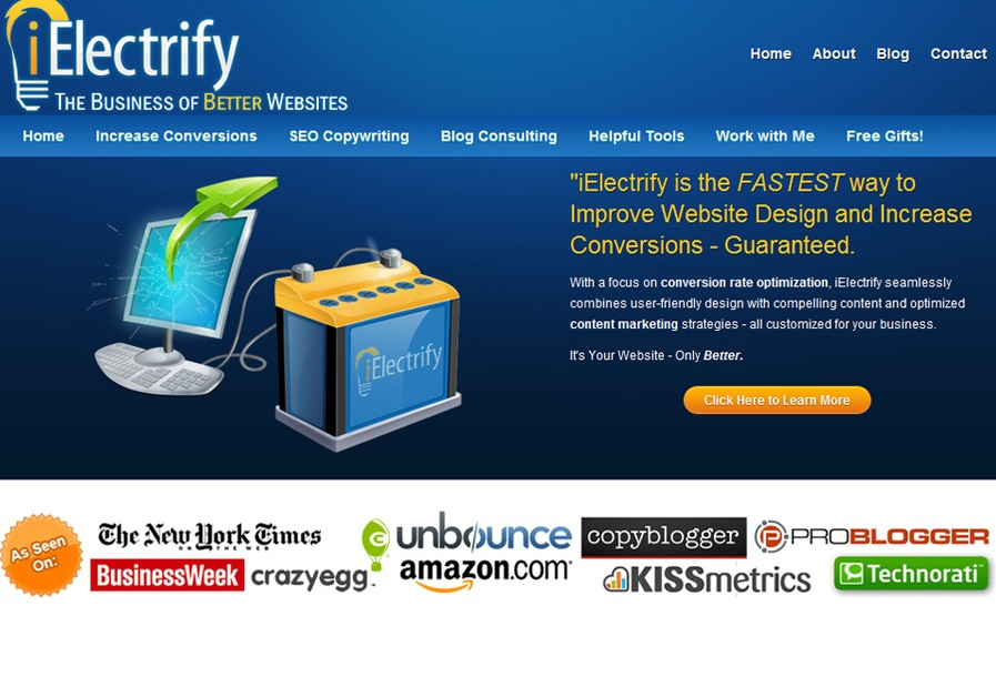 A great web design by iElectrify, Charleston, WV: