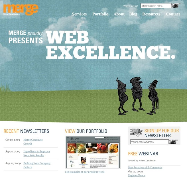 A great web design by Merge, Greenville, SC: