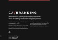 A great web design by CA/Branding, Stockholm, Sweden: