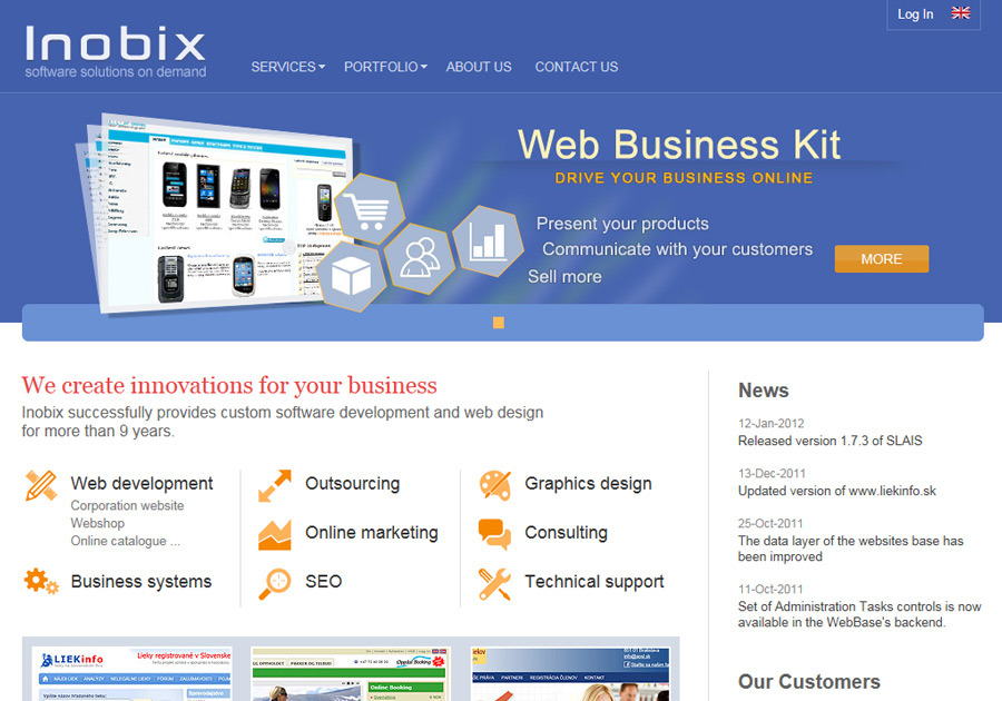 A great web design by Inobix, Bratislava, Slovakia: Website, Portfolio , Technology , ASP.NET