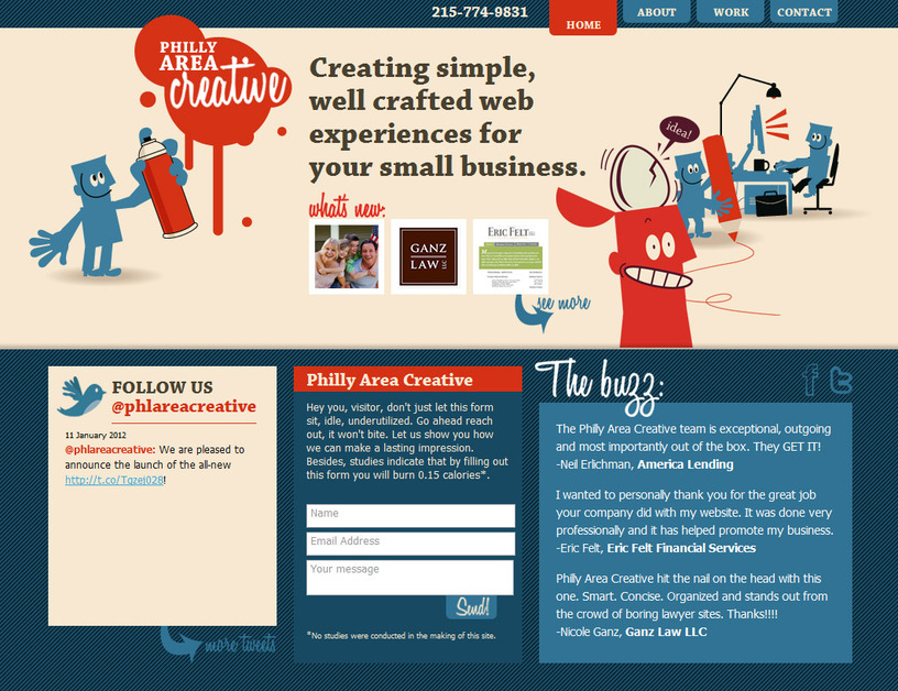 A great web design by Philly Area Creative, Philadelphia, PA:
