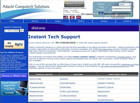 A great web design by Adachi Computech Solutions, Edison, NJ:
