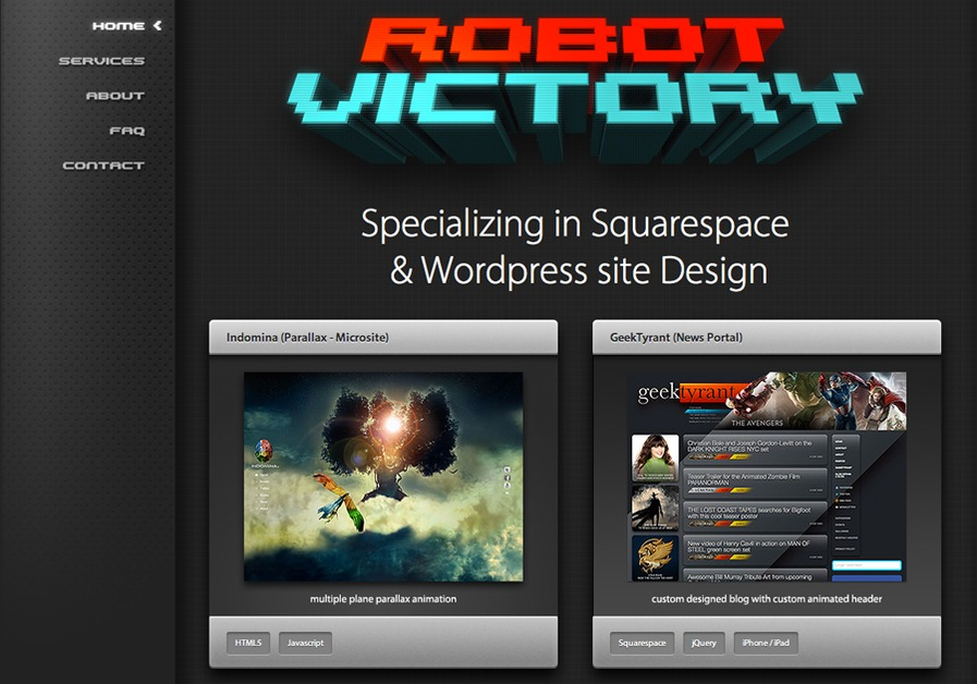 A great web design by Robot Victory, Los Angeles, CA: