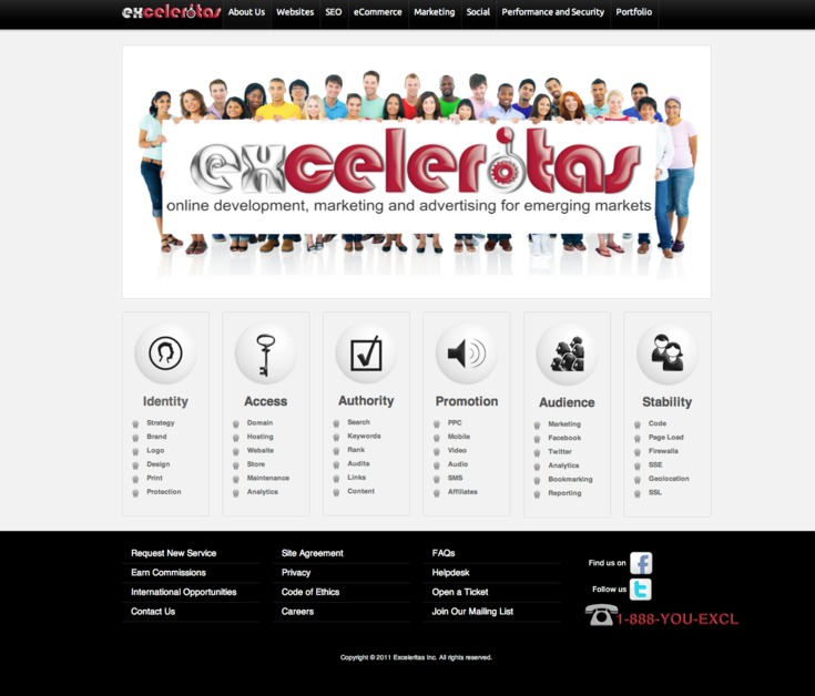 A great web design by Exceleritas, Raleigh, NC: