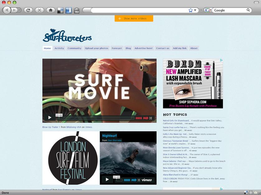 A great web design by Foamers, San Francisco, CA: