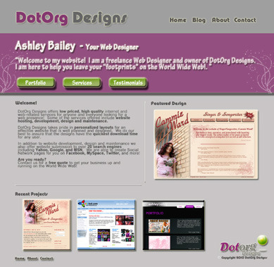 A great web design by DotOrg Designs, Raleigh, NC: