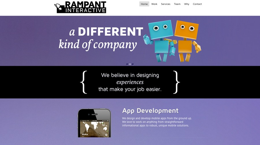 A great web design by Rampant Interactive, St Louis, MO: