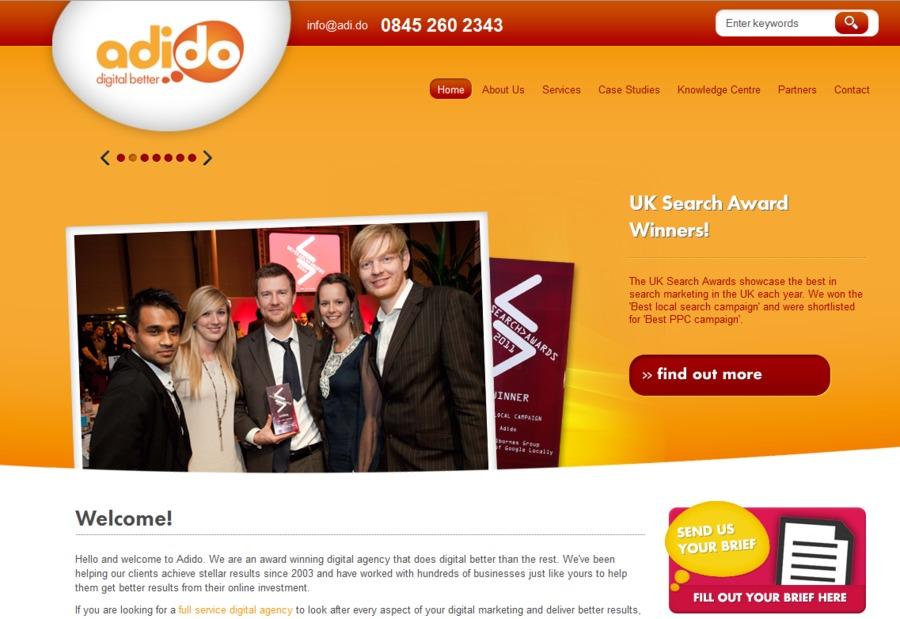 A great web design by Adido, Bournemouth, United Kingdom: