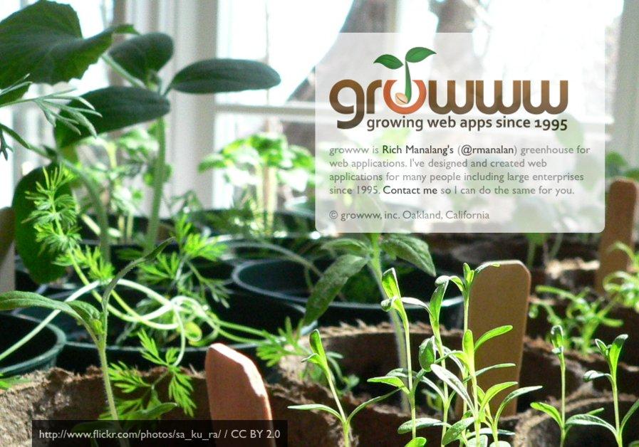 A great web design by growww, inc., San Francisco, CA: