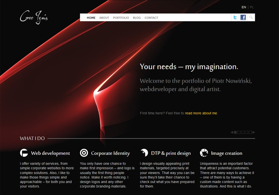 A great web design by Creo Ignis, Warsaw, Poland: