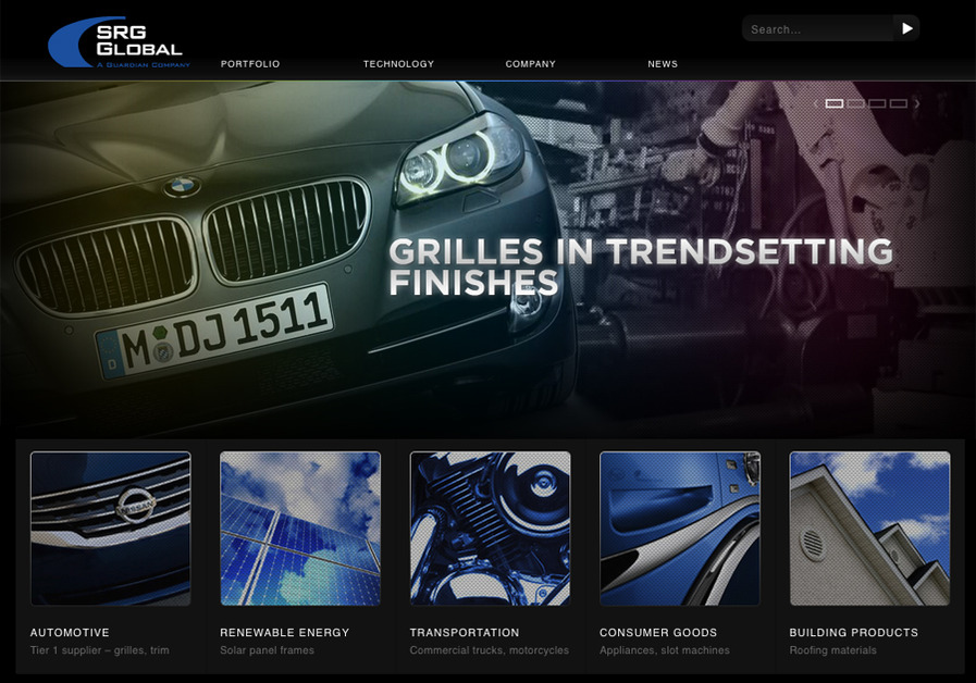 A great web design by Trent Design, Detroit, MI: