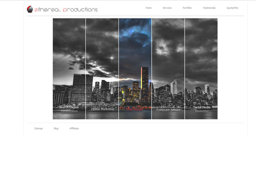 A great web design by Ethereal Productions LLC, New York, NY: