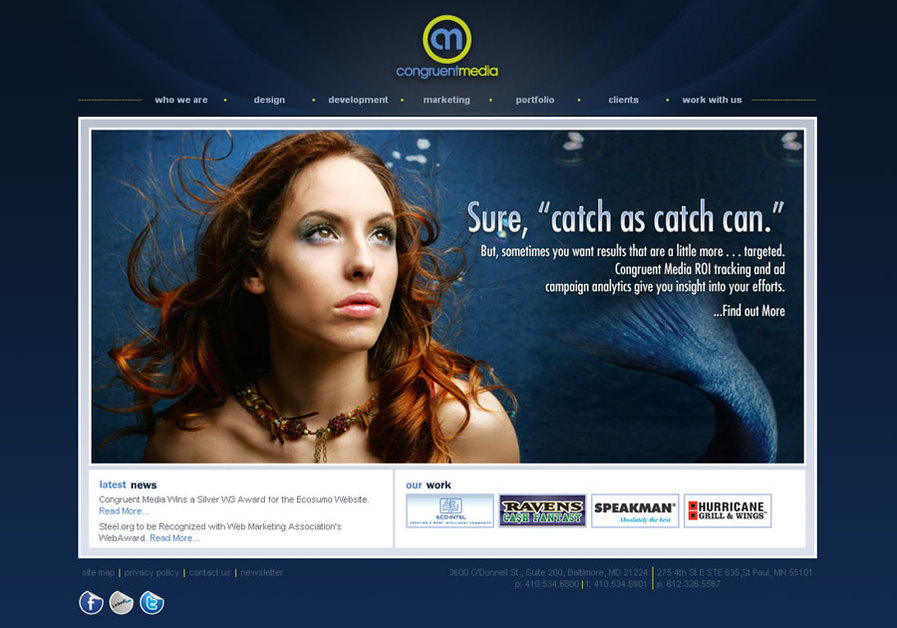 A great web design by Congruent Media, Baltimore, MD: