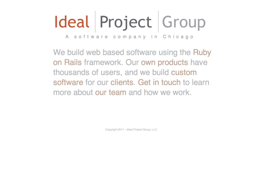 A great web design by Ideal Project Group, Chicago, IL: