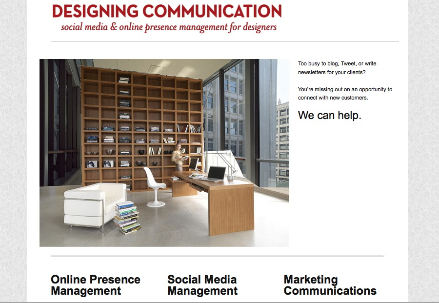 A great web design by Designing Communication, Portland, OR: