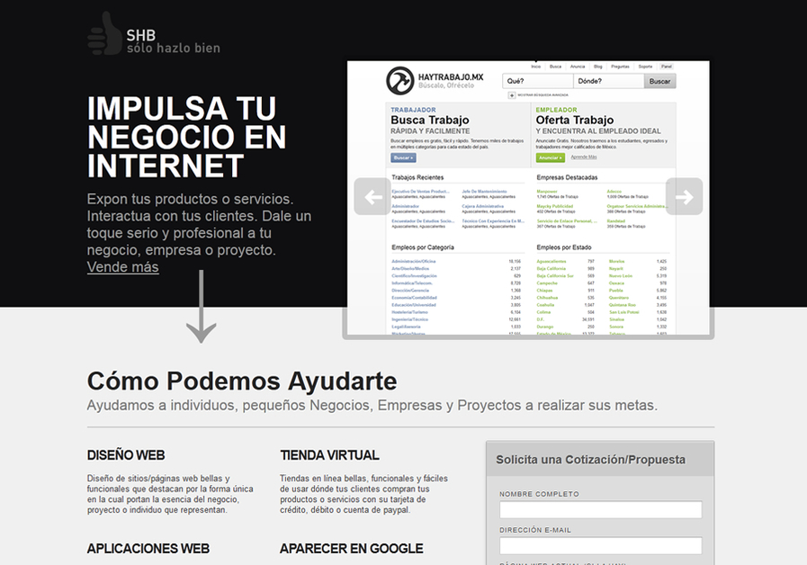 A great web design by SHB - Sólo Hazlo Bien, Central Mexico, Mexico: