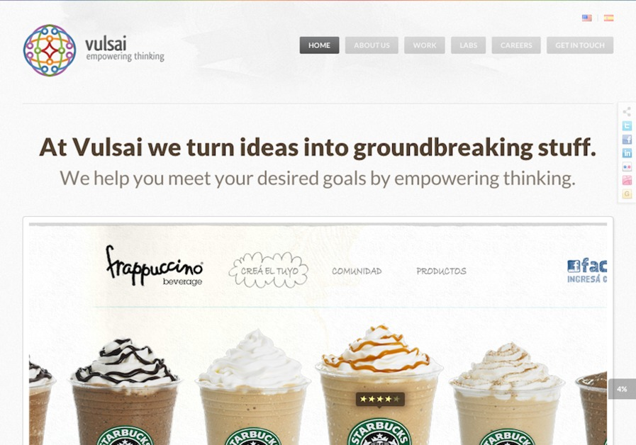 A great web design by Vulsai - Empowering Thinking, New York, NY: