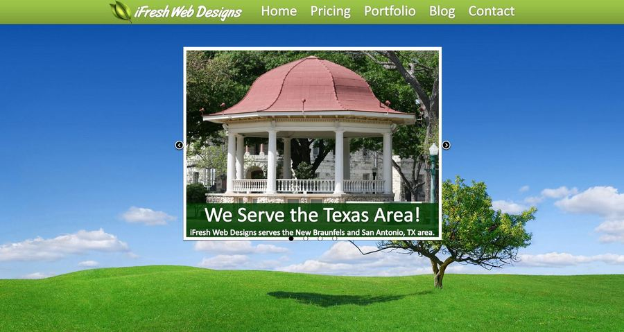 A great web design by iFresh Web Designs, New Braunfels, TX:
