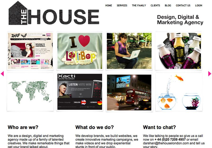 A great web design by The House - Branding & Communications Agency, London, United Kingdom: