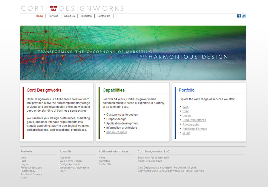 A great web design by Corti Designworks, Washington DC, DC: