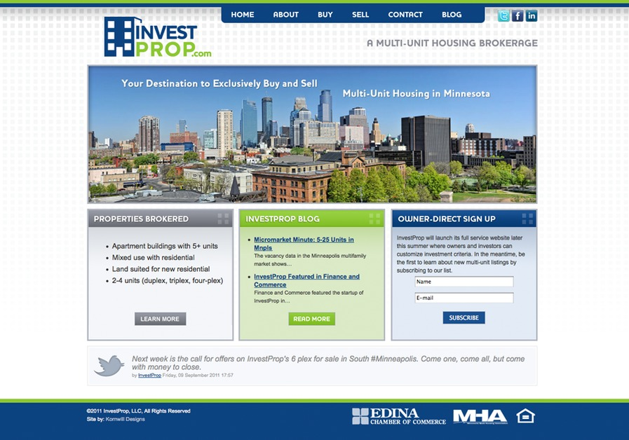 A great web design by Kornwill Designs, Minneapolis, MN:
