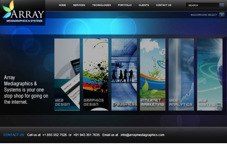 A great web design by Array MediaGraphics, New York, NY: