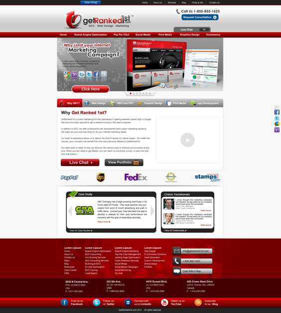A great web design by GetRanked1st.com, Toronto, Canada: