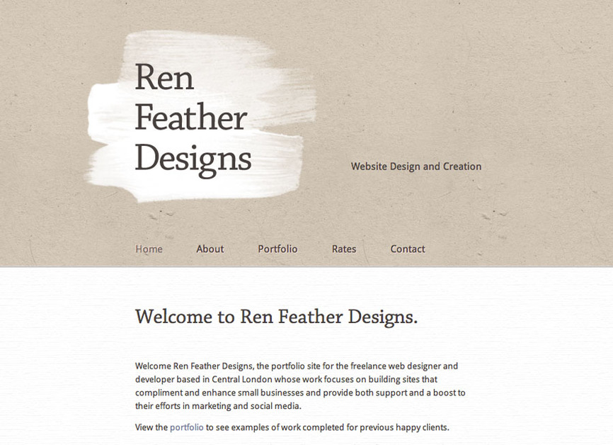 A great web design by Ren Feather Designs, London, United Kingdom: