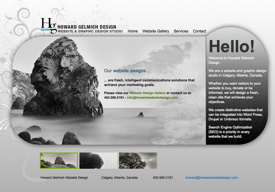 A great web design by Howard Gelmich Design, Calgary, Canada: