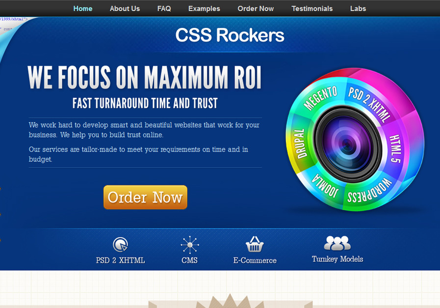 A great web design by CSS Rockers, Kolkata, India: