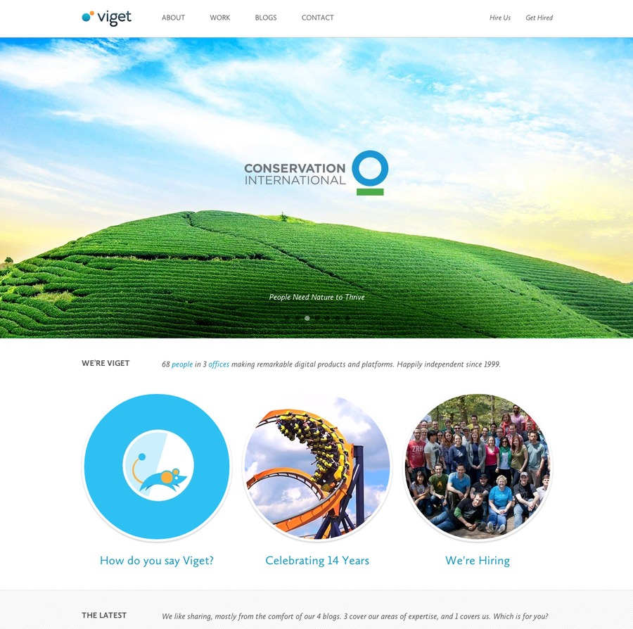 A great web design by Viget , Washington DC, DC: