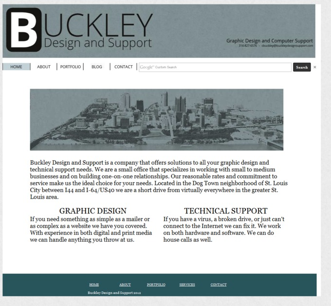 A great web design by Buckley Desing and Support, St Louis, MO: