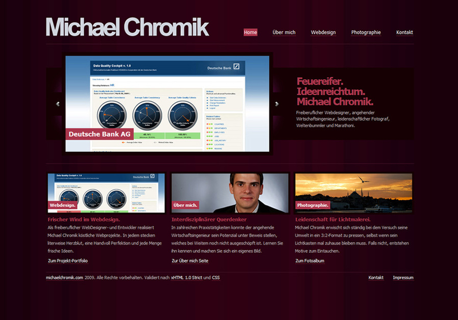 A great web design by Michael Chromik, Mainz, Germany: