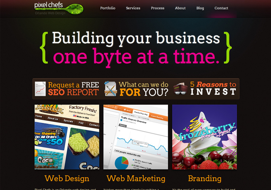 A great web design by Pixel Chefs, llc., Orlando, FL: