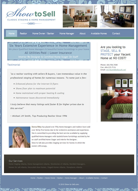 A great web design by Pro Edge Design, Atlanta, GA: