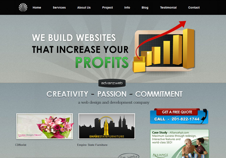 A great web design by Advanzweb.com, New York, NY: